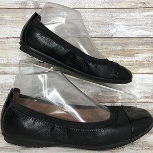 Josef Seibel 7.5/8M Black Leather Ballet Flats.